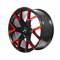 TZUNAMEE EVO Black gloss Flashred